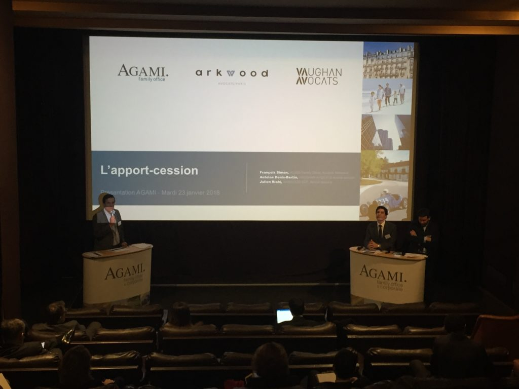 Conférence apport-cession Agami