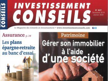 Structurer son patrimoine sous forme societaire - Investissement Conseils